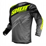 Shot Devo Ventury MX Jersey Dark Grey/Neon Yellow